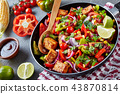 Delicious texan dish on a concrete background 43870814