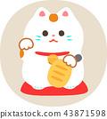 招財貓 毛孩 貓 43871598
