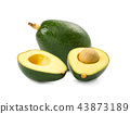 Fresh avocados isolated on white background 43873189