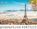 eiffel tour and Paris cityscape 43873222