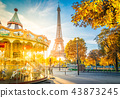 eiffel tour and from Trocadero, Paris 43873245