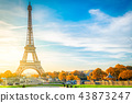 eiffel tour and from Trocadero, Paris 43873247