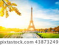 eiffel tour and from Trocadero, Paris 43873249