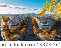 skyline of Paris, France 43873262