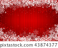 Red Christmas Background with Snowflakes 43874377