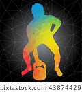 Vector silhouettes of man doing crossfit workouts 43874429
