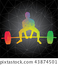 Vector silhouettes of man doing crossfit workouts 43874501