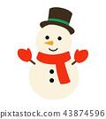 winter, snowman, snowmen 43874596