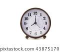 alarm clock retro style on white background. 43875170