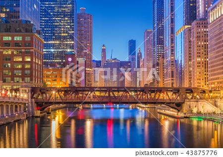 Chicago, Illinois, USA Cityscape 43875776