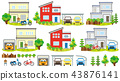 House scenery (garage and motorcycle) 43876141