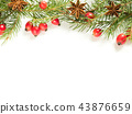 Christmas decorations on a white background,  43876659