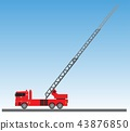 Fire Truck on blue sky background 43876850
