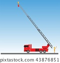 Fire Truck on blue sky background 43876851