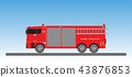 Fire Truck on blue sky background 43876853