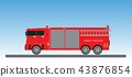 Fire Truck on blue sky background 43876854