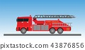 Fire Truck on blue sky background 43876856