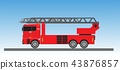 Fire Truck on blue sky background 43876857