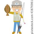 釣魚平眼的男人 43876961