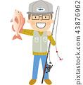 釣魚 捕魚 魚 43876962