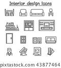 Interior design & House Improvement icon set 43877464