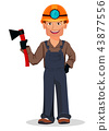 Miner man, mining worker. Cartoon character 43877556