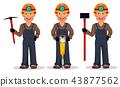 miner worker cartoon 43877562