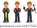 miner worker cartoon 43877565