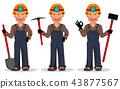 worker cartoon character 43877567
