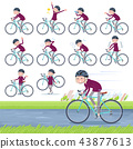 flat type purple shirt old women White_road bike 43877613