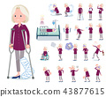 flat type purple shirt old women White_sickness 43877615