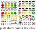 Rating, review, user emoji, flat icons, vector set 43879047