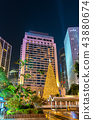 Christmas tree in the Central district of Hong Kong 43880674