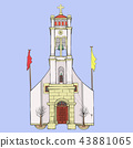 Vector. Traditional Greek church. 43881065