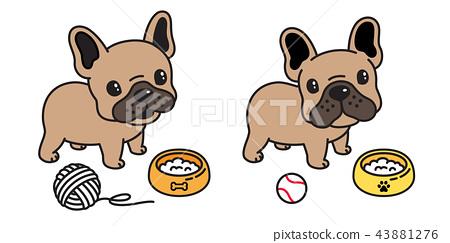 dog vector french bulldog icon cartoon logo ball 43881276