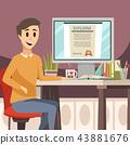 education, online, background 43881676