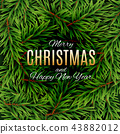 Merry Christmas and New Year Background. Vector Illustration 43882012