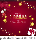 Merry Christmas and New Year Background. Vector Illustration 43882014