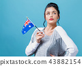 Young woman with an Australian flag 43882154