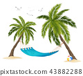 Realistic Hammock Illustration 43882288
