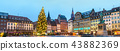 Panorama of Place Kleber with the Christmas Market in Strasbourg, France 43882369