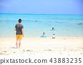 family, beach, beaches 43883235