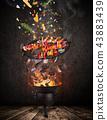 fire, flames, chicken 43883439