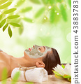 Young healthy woman with face mask. 43883783