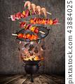 fire, flames, chicken 43884025