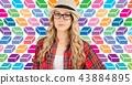 Woman Female Straw 43884895