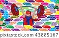 Boy, Superhero, Pattern 43885167