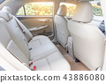Back passenger seats in modern luxury car 43886080