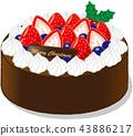 聖誕蛋糕 聖誕季節 聖誕節期 43886217