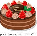 聖誕蛋糕 聖誕季節 聖誕節期 43886218